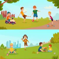 Kids Banner Set vector