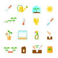 uppsättning av plantor ikoner
