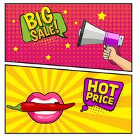 Big Sale Comic Style Banners