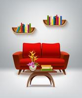 Living Room Interior Illustration