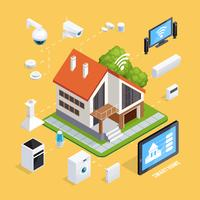 Smart House Isometric Composition Poster