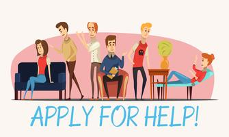 Apply For Help To Psychologist Poster