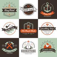 Vintage logo's ontwerpconcept