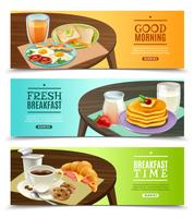 Breakfast Horizontal Banners Set