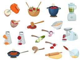 Cooking Process Set vector