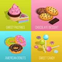 Confectionery Concept Icons  Set