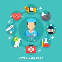 conceito de cuidados com animais de estimação
