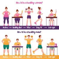 Fitness Banner Set vector