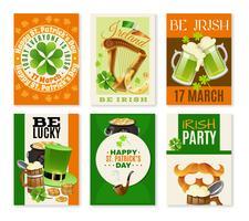 Saint Patricks Day Celebration Banners Set