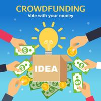 Illustration vectorielle de crowdfunding