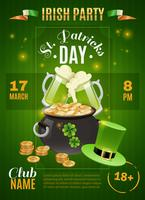 Cartaz do dia de Saint Patricks