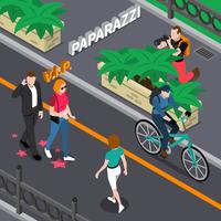 Illustration isométrique de paparazzi