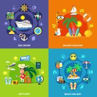 Concepto de diseño de viajes de vacaciones