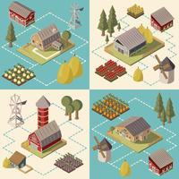Farm Isometric Concept vector