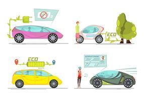 Conceito de carro eletro