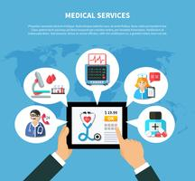 Online Medical Services Flat Design