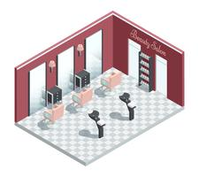 Beauty Salon Isometric Interior