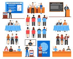 Conference Elements Set vector