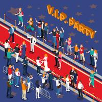 vip parti isometrisk illustration