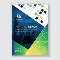 Design de brochura de relatório anual