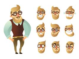 Emotions Man Icon Set