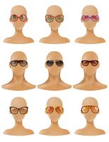 Mannequins Heads Display Solglasögon Realistic Set