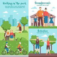 Composições ao ar livre dos avós ativos