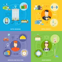 Hotel Service Concept Icons Set vector