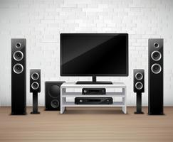 Home Theater Realistische interieur sjabloon