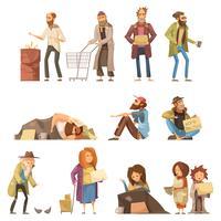 Conjunto de personas sin hogar