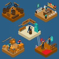Craftsman Isometric Illustration vector