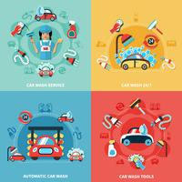 Ensemble de compositions de lavage de voiture