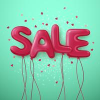 Sale Balloon Letters Background
