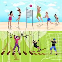 Active Leisure People Composition