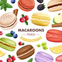 Sweet Macaroon Goods Background