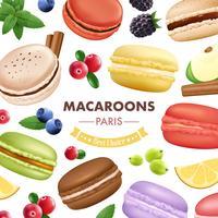 Fond de marchandises de macaron doux