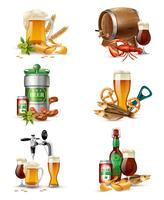 Draught Beer Illustrations Set