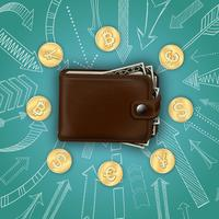 Modelo de dinheiro realista vetor