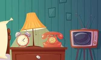 Retro Gadgets Cartoon Samenstelling