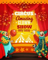 Circus Amazing Clown Show Announcement Poster