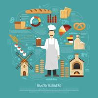 Bäckerei-Business-Illustration