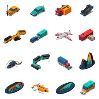 Transport Accidents Isometric Set