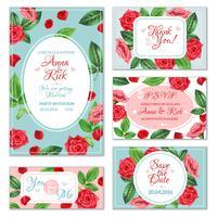Banners de flor rosa