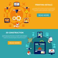 Printing Details And 3d Construction Horizontal Banners
