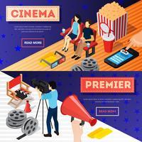 Cinema Premiere Banners Set vector