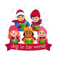 Caroling composition d'enfants