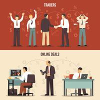financiële banners verhandelen