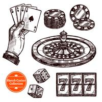 Hand Drawn Sketch Casino Collection