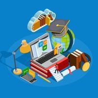 Concetto isometrico di e-learning