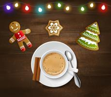 Christmas And New Year Poster vector